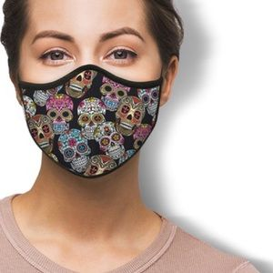 5 PC Family Pack MADE IN USA Sugar Skull Face Mask